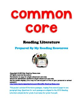 Reading Literature Passages Aligned with Common Core