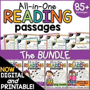 Phonics Reading Comprehension Passages All-in-One BUNDLE