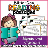 Blends and Digraphs All-in-One Reading Passages Distance Learning