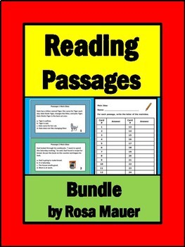 Reading Passages Bundle Literacy Packets