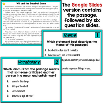 Reading Passages Bundle with Multiple Choice Comprehension Questions