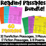 Reading Passages Bundle with Comprehension Questions (Dist