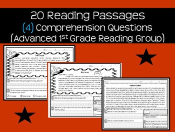 Reading Passages & Comprehension Questions (Advanced Reading Group)