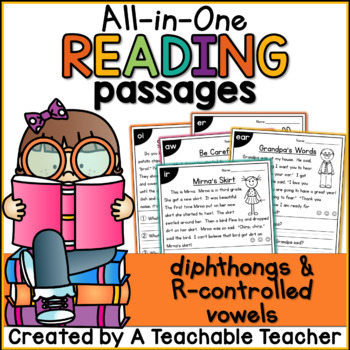 Diphthong and R-Controlled Vowels All-in-One Reading Passages