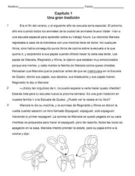 English And Spanish Reading Passages With Questions Worksheets