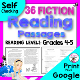 Reading Comprehension Passages and Questions - Fiction for Upper Grades
