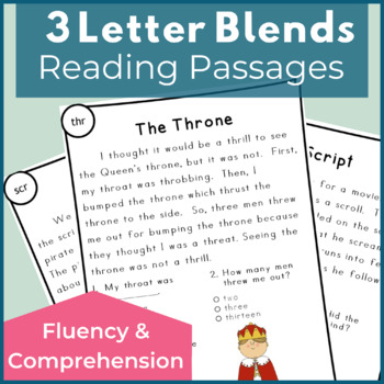 Reading Passages for Fluency and Comprehension 3 Letter Blends