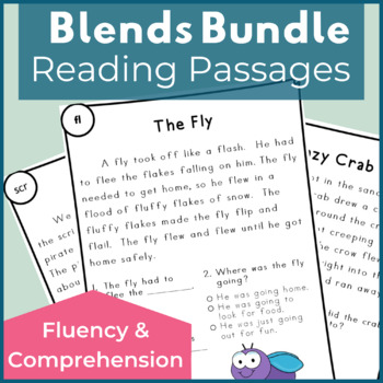 Reading Passages for Fluency and Comprehension Blends Bundle