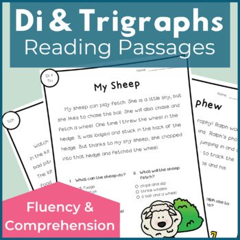 Reading Passages for Fluency and Comprehension Digraphs an