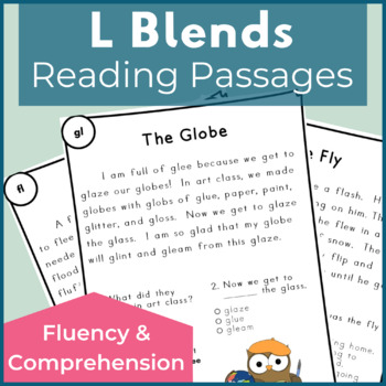 Reading Passages for Fluency and Comprehension L Blends