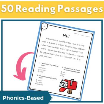 Reading Passages for Fluency and Comprehension Long Vowel Bundle
