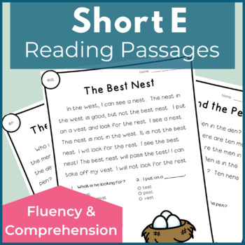 Reading Passages for Fluency and Comprehension Short E