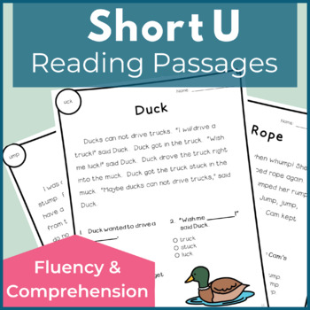 Reading Passages for Fluency and Comprehension Short U