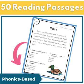 Reading Passages for Fluency and Comprehension Short Vowel Bundle