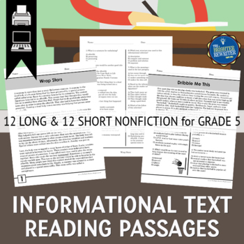 Informational Text Passages Grade 5