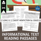 Informational Text Passages Grade 6