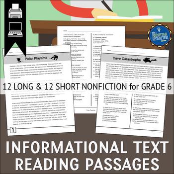Reading Passages Grade 6
