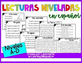 Reading Passages Levels A-D in Spanish