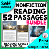 Reading Comprehension Passages and Questions - 2nd and 3rd Grade bundle