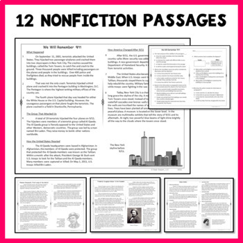 Reading Passages Nonfiction for 4th Grade and 5th Grade SET 2
