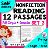 Reading Passages for 4th Grade and 5th Grade SET 3