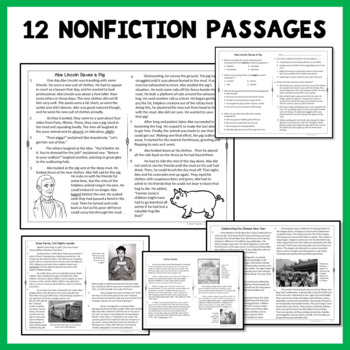 Reading Passages Nonfiction Set 3 for 2nd Grade and 3rd Grade