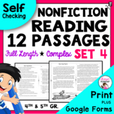 Reading Passages for 4th Grade and 5th Grade SET 4