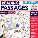 Reading Passages - Read and Graph Silly Set 1