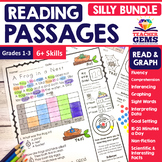 Reading Passages - Read and Graph Silly Bundle