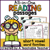 Short Vowel Reading Passages ~ All-in-One |Distance Learning