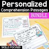 Reading Passages Skill Based: PERSONALIZED Comprehension Skills Bundle