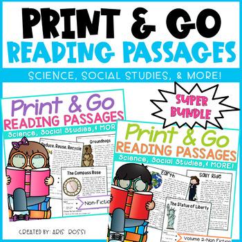 Reading Comprehension Passages {Super Bundle}