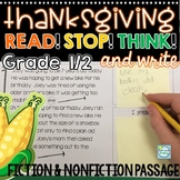 Reading Passages Thanksgiving Grades 1-2 ~ Thanksgiving Reading Passages