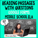 Reading Passages With Questions Distance Learning Set 3 Mi