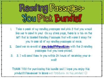 Reading Passages- You Pick Bundle!!
