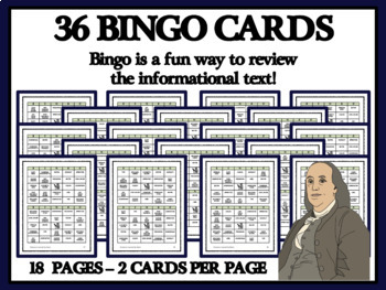 READING PASSAGES AND BINGO- Colonial American Printers and Publishers