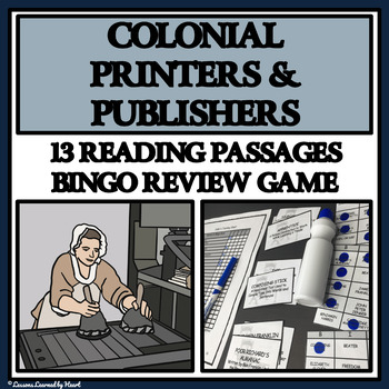 Reading Passages and Bingo - Colonial American Printers an