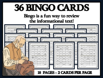READING PASSAGES AND BINGO - Colonial Craftsmen, Part 1