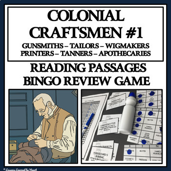 READING PASSAGES AND BINGO- Colonial Craftsmen, Part 1