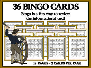 READING PASSAGES AND BINGO - Colonial Craftsmen, Part 2