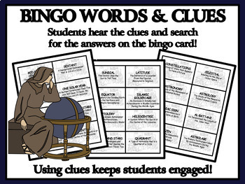 READING PASSAGES AND BINGO - Medieval Astronomers and Astrologers