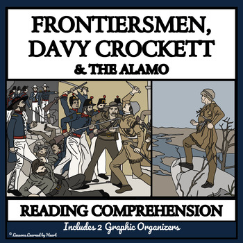 BUNDLE - Reading Passages and Comprehension - Frontier, Davy Crockett, the Alamo