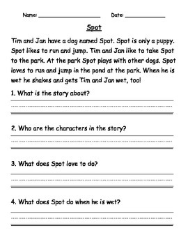 Reading Passages and Comprehension Questions