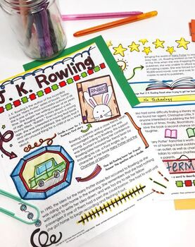 Reading Passages and Comprehension Questions, Doodle Articles, Reading Skills