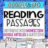 Reading Passages and Comprehension Questions, Doodle Artic