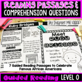 Level O Guided Reading Passages and Comprehension Questions: African Americans