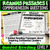 Level P Guided Reading Passages and Comprehension Questions: Influential Leaders