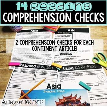 Reading Passages and Comprehension Questions: The Seven Continents