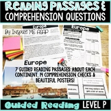 Level P Guided Reading Passages and Comprehension Questions: Seven Continents