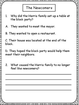Reading Passages and Comprehension for 4th Grade